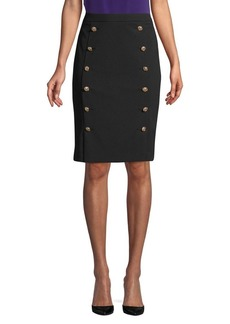 Calvin Klein Button Embellished Pencil Skirt
