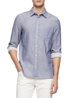 Calvin Klein Button-Front Long-Sleeve Shirt