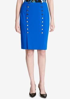 Calvin Klein Button-Front Sailor Pencil Skirt