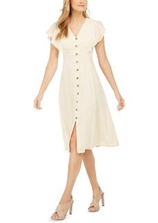 Calvin Klein Button-Trim A-Line Dress