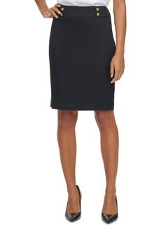 Calvin Klein Button Waist Pencil Skirt