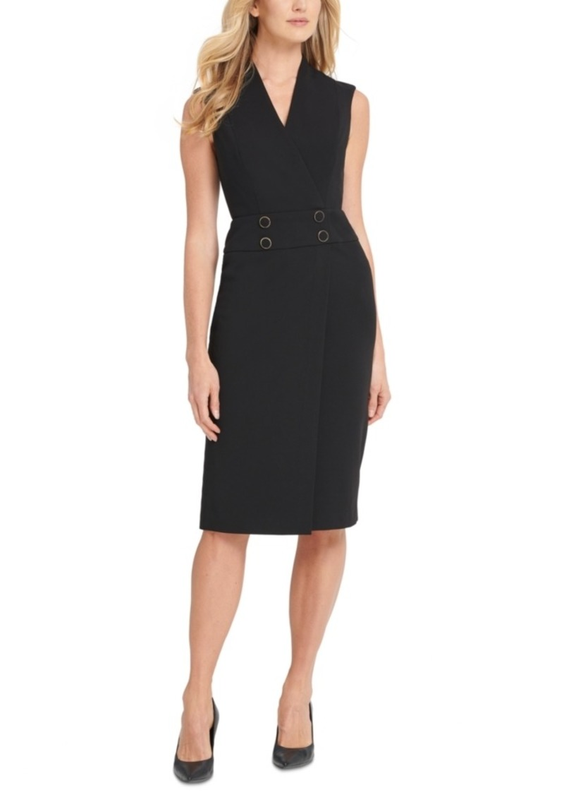 Calvin Klein Buttoned Sheath Dress
