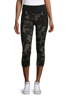 Calvin Klein Camouflage Cropped Active Capris