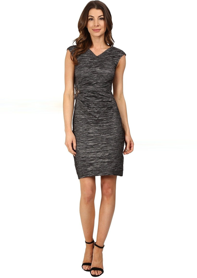 Calvin Klein Cap Sleeve Dress with Beading on Side CD6B2ZHU