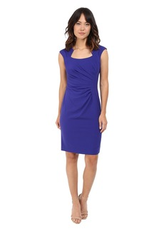 Calvin Klein Cap Sleeve Ruched Sheath Dress
