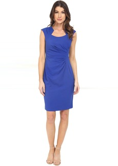 Cap Sleeve Ruched Sheath Dress
