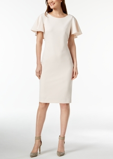 Calvin Klein Capelet Sheath Dress