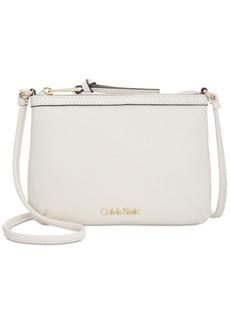 Calvin Klein Carrie Pebble Leather Crossbody