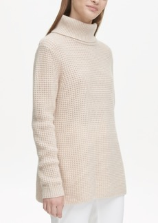 Calvin Klein Cashmere Textured Turtleneck Sweater