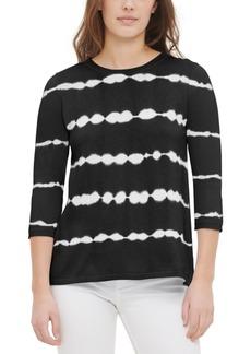 Calvin Klein Cashmere Tie-Dyed Striped Top