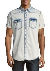 Calvin Klein Casual Denim Button-Down Shirt