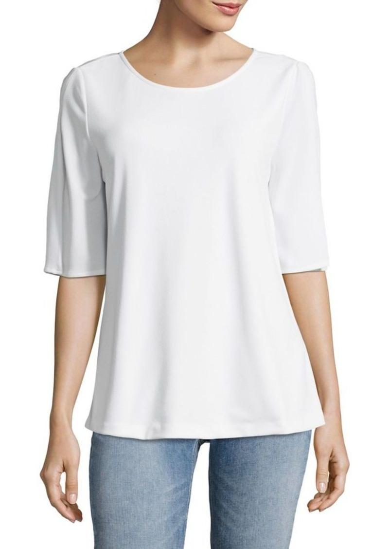 Calvin Klein Calvin Klein Slit Sleeve Top Casual Shirts