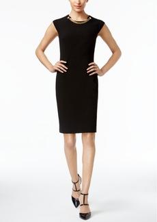 Calvin Klein Chain-Neck Sheath Dress