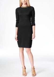Calvin Klein Chain-Trim Sweater Dress
