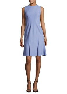 Calvin Klein Chambray Flared Sleeveless Dress