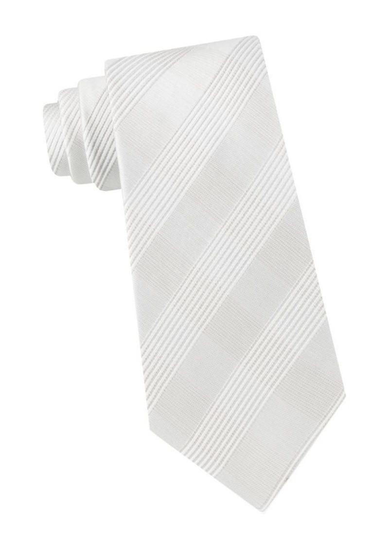 Calvin Klein Check Silk-Blend Tie