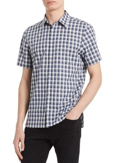 Calvin Klein Classic-Fit Heathered Check Shirt