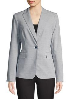 Calvin Klein Checkered Notch Lapel Jacket