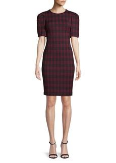 Calvin Klein Checkered Sheath Dress