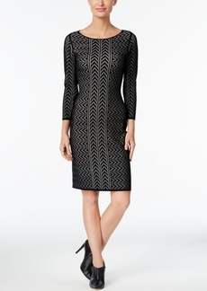 Calvin Klein Chevron Bodycon Sweater Dress