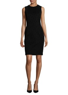 Calvin Klein Chic Velvet Sheath Dress