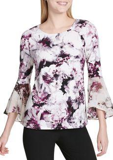 Calvin Klein Chiffon Floral Blouse