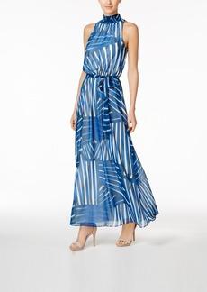 Calvin Klein Chiffon Printed Maxi Dress