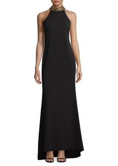 Calvin Klein Choker Evening Gown