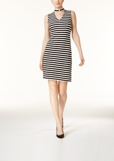 Calvin Klein Choker-Neck A-Line Dress