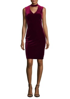 Calvin Klein Choker Sheath Dress