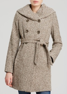 Calvin Klein City Tweed Belted Coat