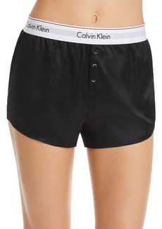 Calvin Klein CK Black Silk Sleep Shorts