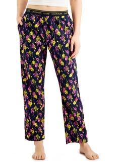 Calvin Klein Ck One Printed Cotton Pajama Pants