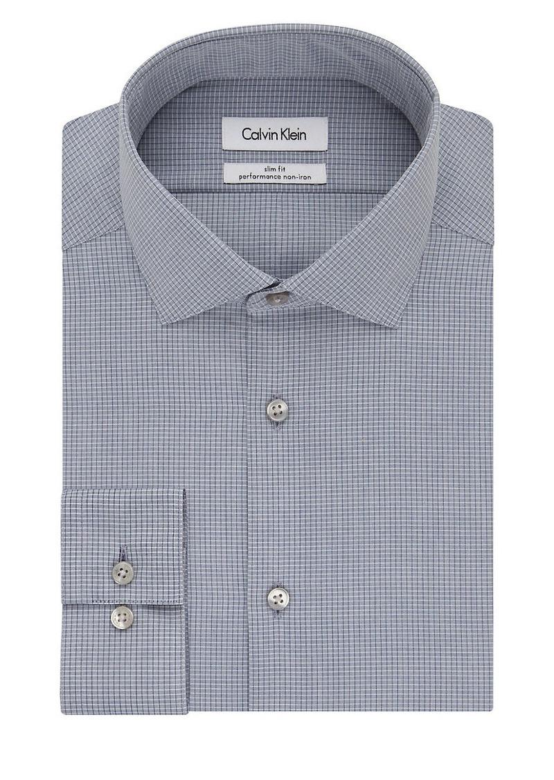 CALVIN KLEIN CK Steel Slim Fit Checked Dress Shirt