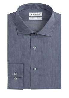 CALVIN KLEIN CK Steel Slim Fit Micro Performance Dress Shirt