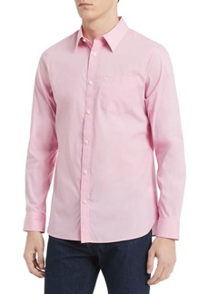 Calvin Klein Slim-Fit Stretch Cotton Button-Down Shirt