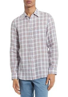 Calvin Klein Classic-Fit Plaid Shirt