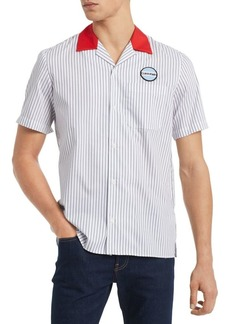 Calvin Klein Classic-Fit Striped Twill Garage Shirt