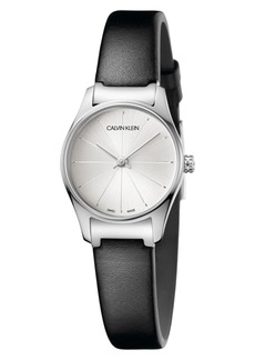 Calvin Klein Classic Leather Strap Watch, 24mm