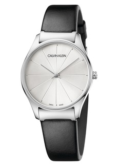 Calvin Klein Classic Leather Strap Watch, 32mm