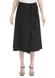 Calvin Klein Classic Ruffle Wrap Skirt