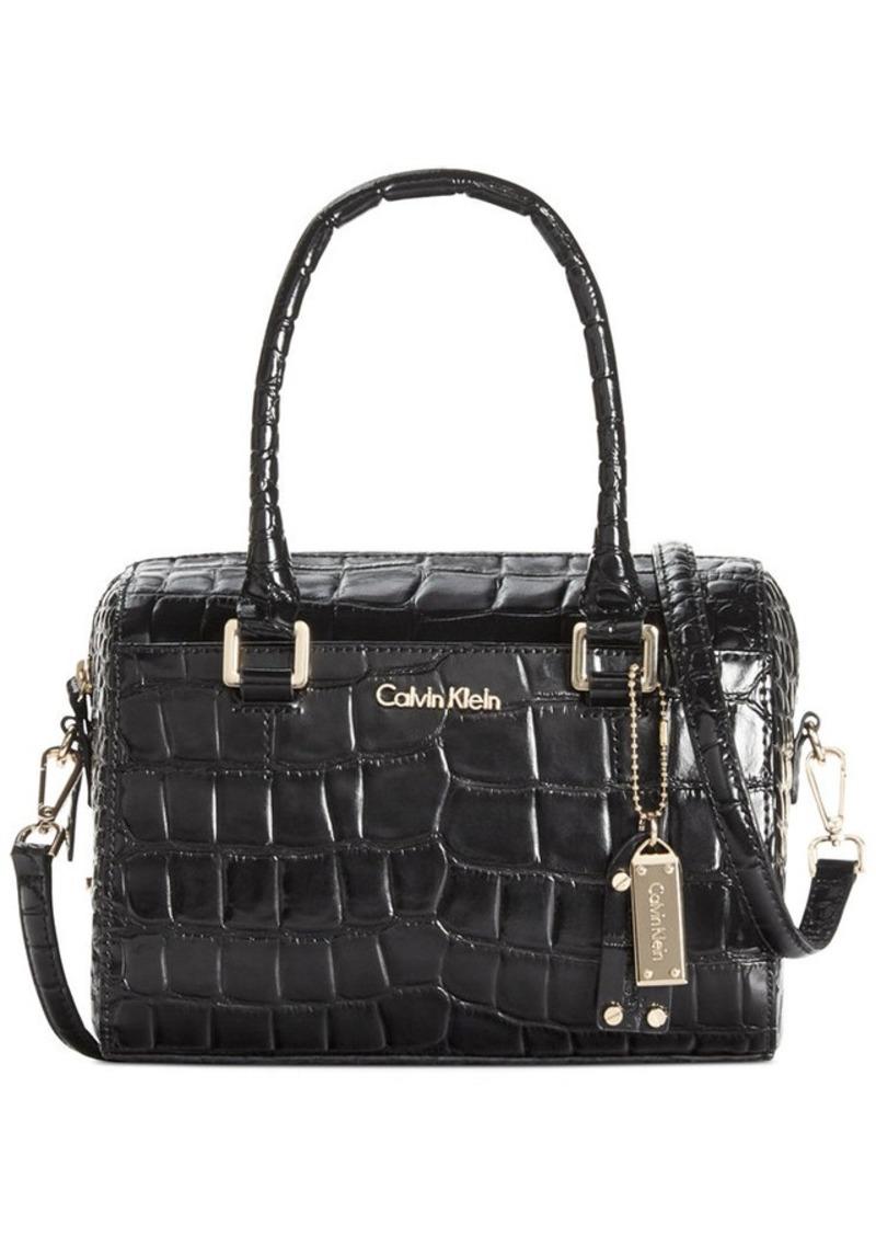 calvin klein calvin klein claudia leather satchel handbags shop it to me. Black Bedroom Furniture Sets. Home Design Ideas
