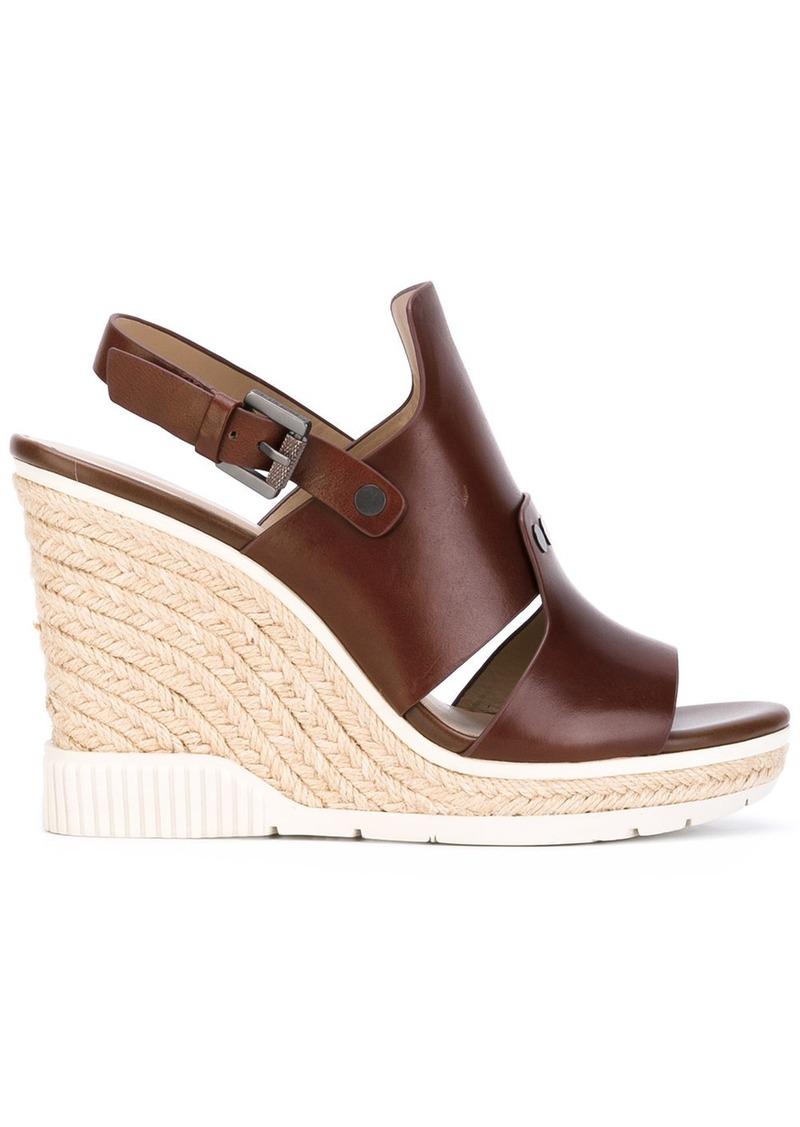 Calvin Klein Cog wedge sandals - Brown