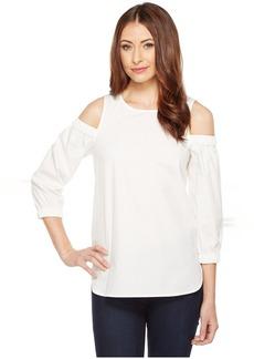 Calvin Klein Cold Shoulder 3/4 Sleeve Top
