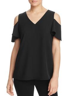 Calvin Klein Cold Shoulder Bell Sleeve Top