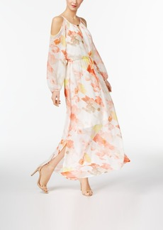 Calvin Klein Cold-Shoulder Maxi Dress