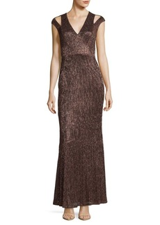 Calvin Klein Cold-Shoulder Mermaid Gown
