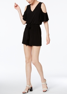 Calvin Klein Cold-Shoulder Romper