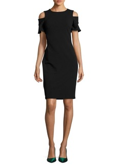 Calvin Klein Cold-Shoulder Sheath Dress