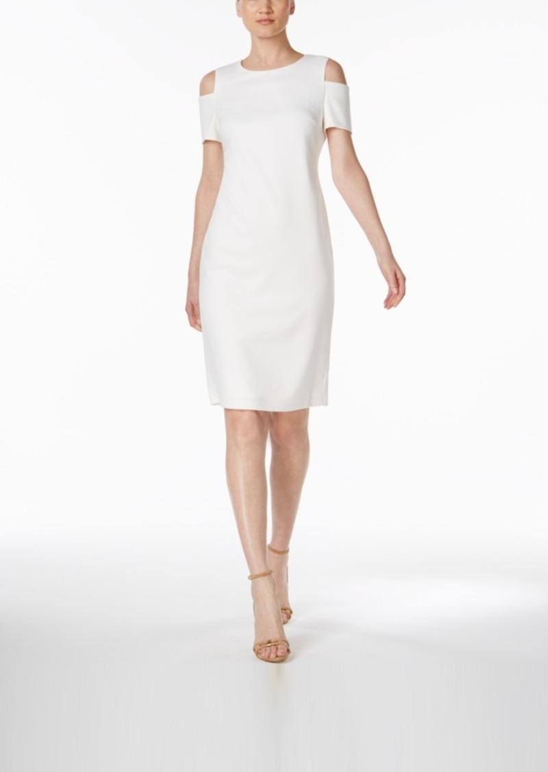 4971486a On Sale today! Calvin Klein Calvin Klein Cold-Shoulder Sheath Dress